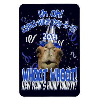 Hump Day Camel New Year's 2014 Keepsake Magnet