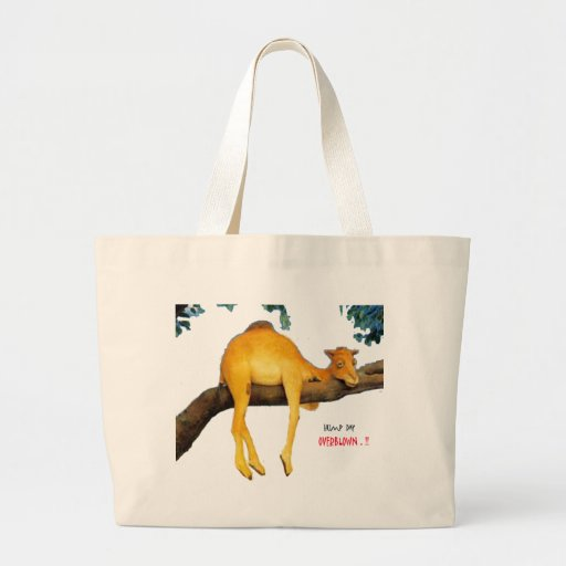 Hump Day Camel .. Overblown Canvas Bags
