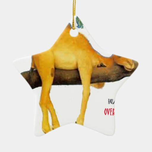 Hump Day Camel .. Overblown Christmas Tree Ornament