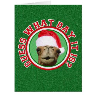Hump Day Camel Santa Christmas BIG Greeting Cards