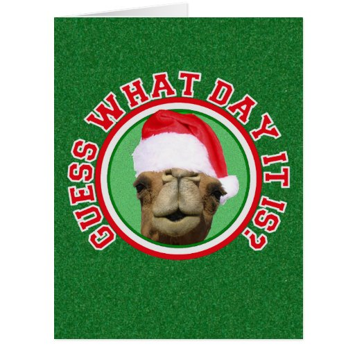 Hump Day Camel Santa Christmas Big Greeting Cards Zazzle