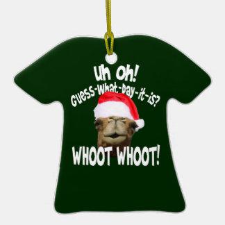 Hump Day Camel T-shirt Christmas Ornament