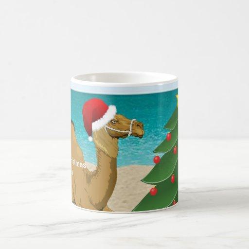 Hump Day Camel with Santa Hat Mug