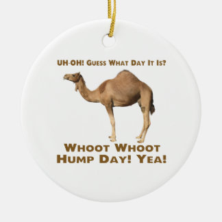 Hump Day Double-Sided Ceramic Round Christmas Ornament