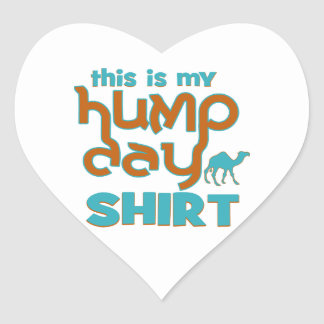 Hump Day Heart Stickers