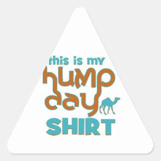 Hump Day Triangle Stickers