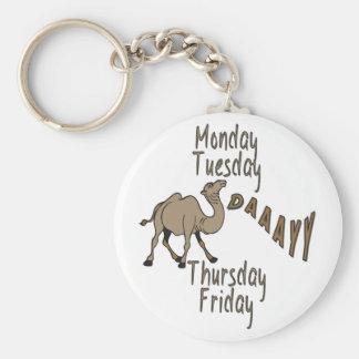 Hump Day Week Days Basic Round Button Keychain