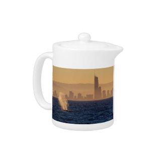 Humpack Whales Surfers Paradise Queensland Teapot