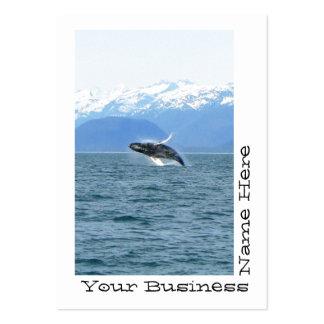 Humpback Acrobat Large Business Card