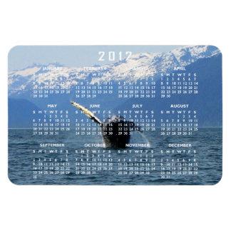 Humpback Barrel Roll; 2012 Calendar Rectangular Photo Magnet