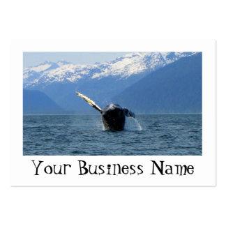 Humpback Barrel Roll Large Business Card
