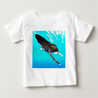 Humpback Diving from the Surface Baby T-Shirt