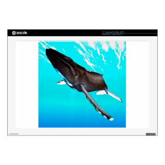 Humpback Diving from the Surface Laptop Skins