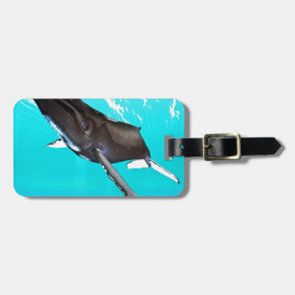 Humpback Diving from the Surface Tag For Luggage