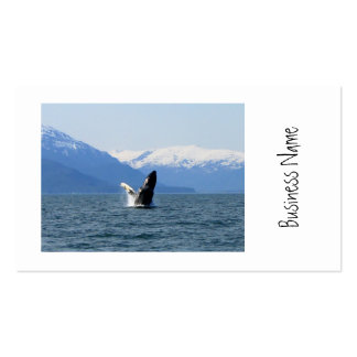 Humpback en la superficie tarjetas de visita