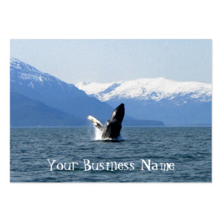 Humpback en la superficie tarjetas de visita grandes