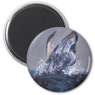 Humpback 2 Inch Round Magnet
