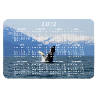Humpback on the Surface; 2012 Calendar Rectangular Photo Magnet