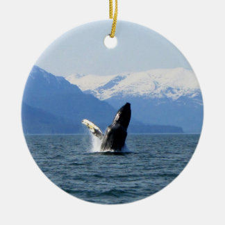 Humpback on the Surface Ceramic Ornament