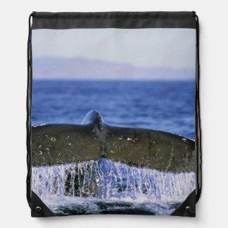 Humpback tail. drawstring backpack