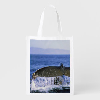 Humpback tail. reusable grocery bag