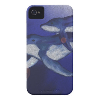 Humpback whale and baby iPhone 4 case