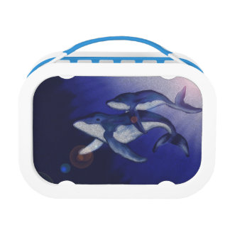 Humpback whale and baby lunch box
