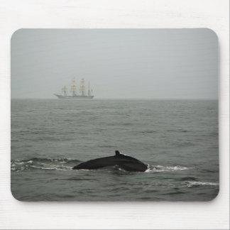 Humpback Whale and Tall Ship Mousepad