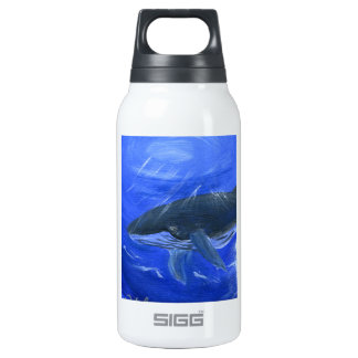 Humpback whale animal art by Gunilla Wachtel Insulated Water Bottle