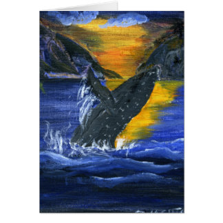 Humpback whale at Sunset Card