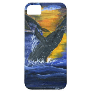 Humpback whale at Sunset iPhone SE/5/5s Case