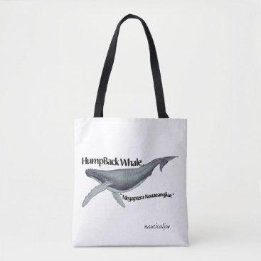 Beach Themed humpback whale beach bag