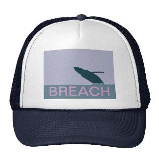 Humpback whale breach cap trucker hat