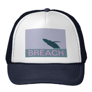 Humpback whale breach cap trucker hat