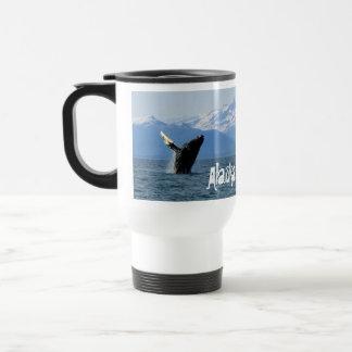 Humpback Whale Breaching; Alaska Travel Mug