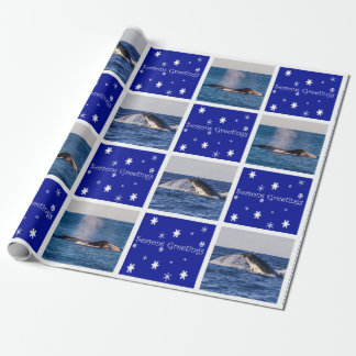Humpback Whale Breaching Australia Christmas Wrapping Paper