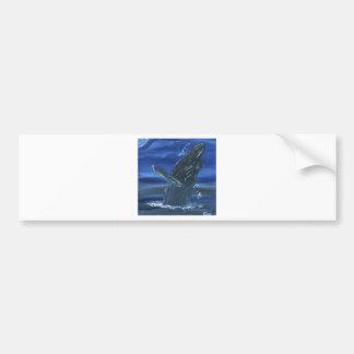 Humpback whale breaching bumper sticker