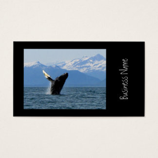 Humpback Whale Breaching Business Card