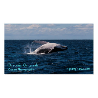 Humpback Whale Breaching Business Card Template