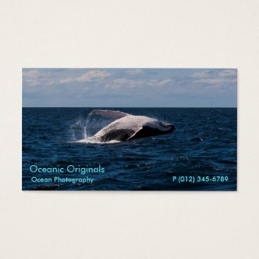 Professional Business Humpback Whale Breaching Business Card Template