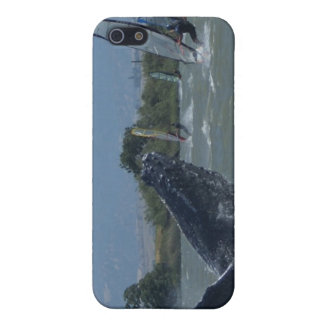 Humpback Whale Breaching by Windsurfers iPhone 5 Cases