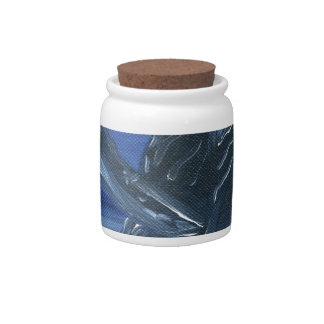 Humpback whale breaching candy dish