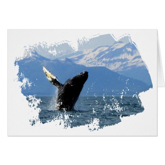 Humpback Whale Breaching Card
