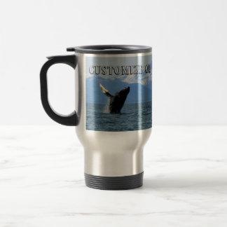 Humpback Whale Breaching; Customizable Travel Mug