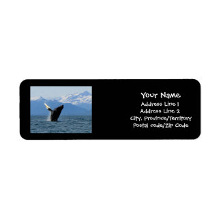 Humpback Whale Breaching Label