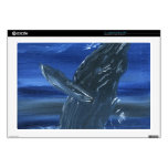 Humpback whale breaching laptop decals