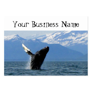 Humpback Whale Breaching Large Business Card