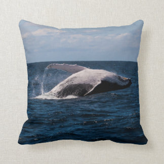 Humpback Whale Breaching off Surfers Paradise Throw Pillow