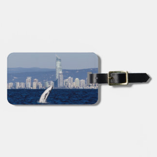 Humpback Whale Breaching Surfers Paradise Luggage Tag