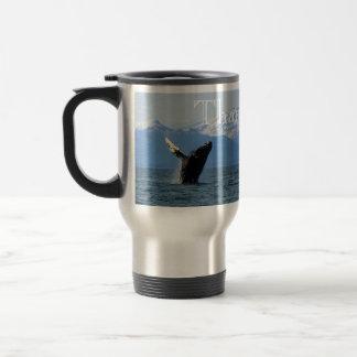 Humpback Whale Breaching; Thank You Travel Mug